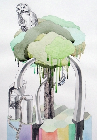Medium_fit_brian_spolans_a_great_tree_2010_13x19_watercolor_pencil_and_pen_on_paper
