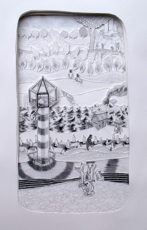 Medium_fit_brian_spolans_isolation_tower_2010_17.5x26.5_pencil_on_paper