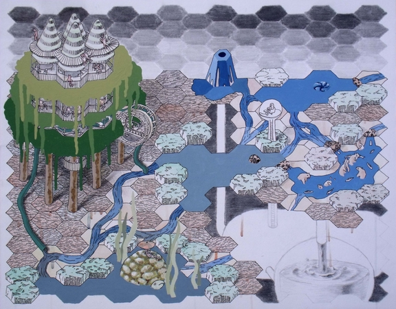 Medium_fit_brian_spolans_water_cycle_2010_acrylic__watercolor__pencil_and_ink_on_paper