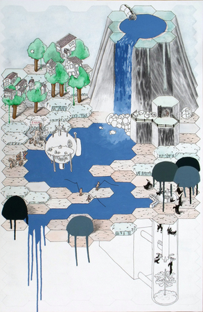 Medium_fit_brian_spolans_water_system_2009_watercolor__acrylic__pencil_and_pen_on_paper