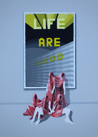 Medium_fit_brian spolans life are good 29x19 acrylic on paper 2018