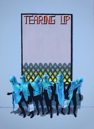 Medium_fit_brian spolans tearing up 29x19 acrylic on paper 2018