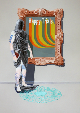 Medium_fit_brian spolans happy trials mixed media on paper 2018
